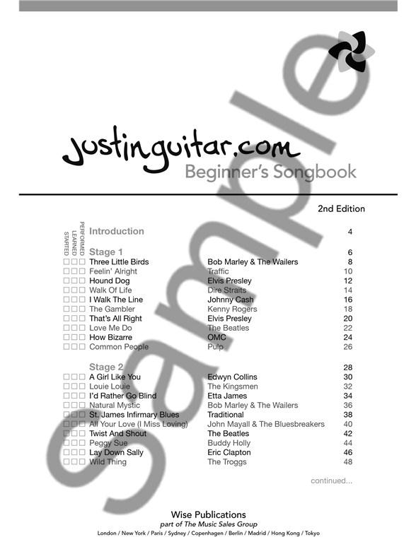 Justinguitar.com Beginner's Songbook: 2nd Edition (Spiral