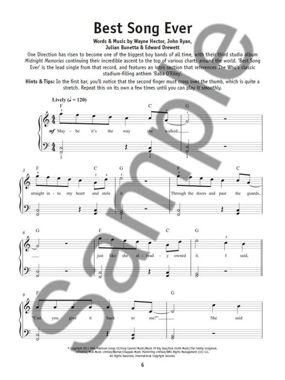 Really Easy Piano Playalong: Chart Hits (Book/Audio