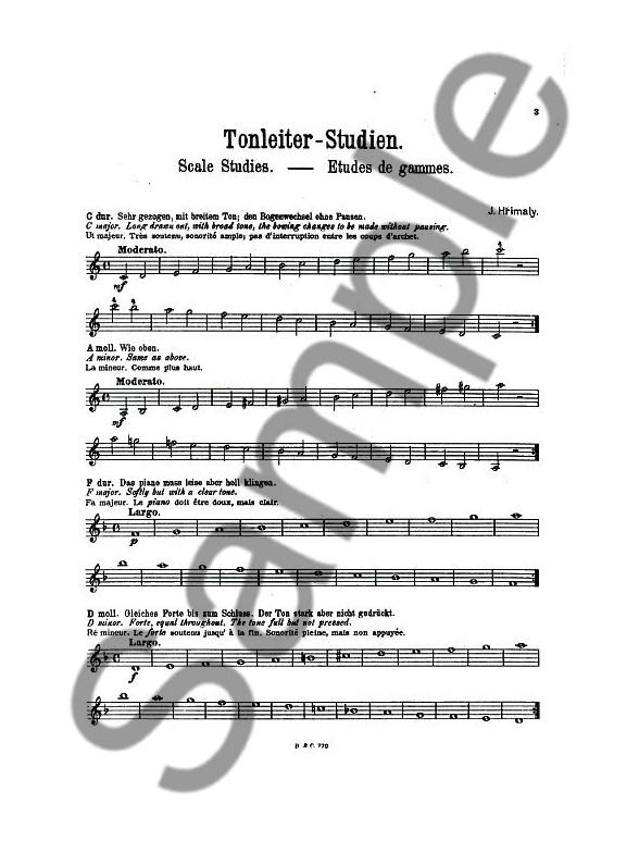 Johann Hrimaly: Tonleiterstudien Für Violine (Scale