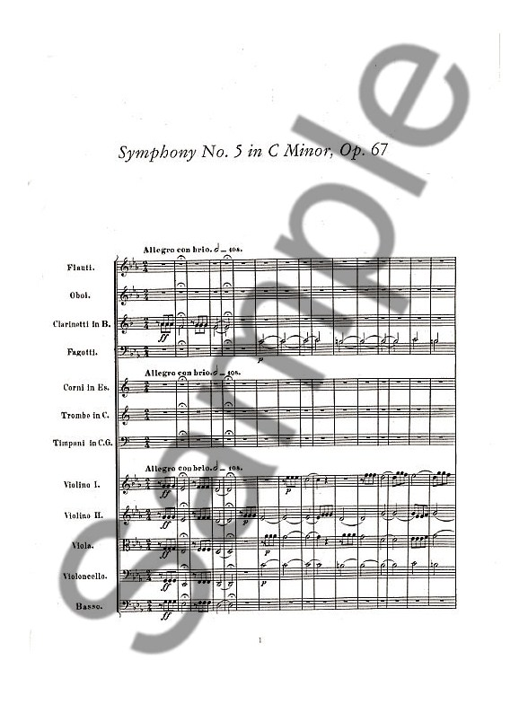 Beethoven: Symphonies Nos. 5, 6 And 7 (Full Score