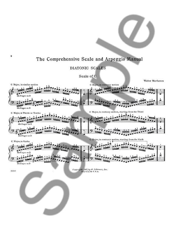 Walter MacFarren: Scale & Arpeggio Manual For Piano