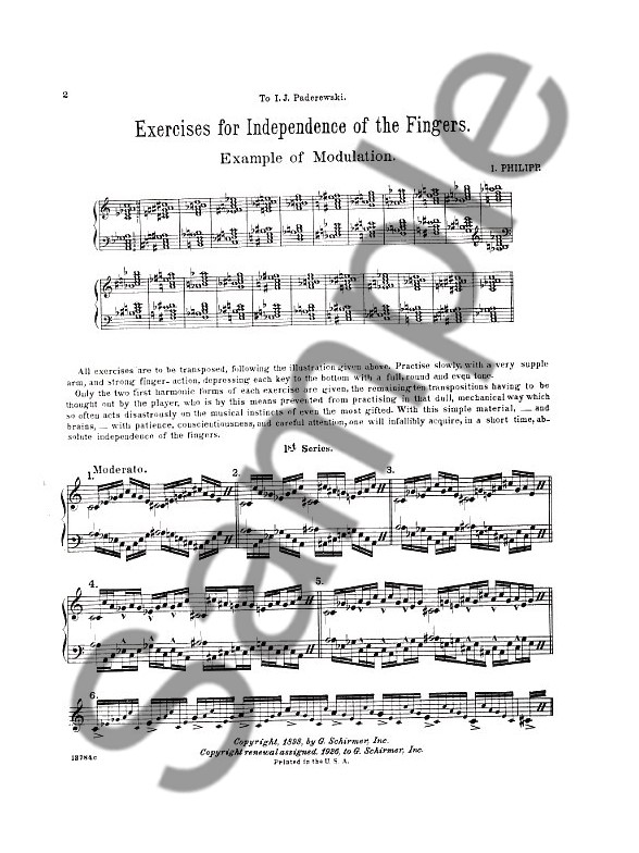 ISIDOR PHILIPP EXERCISES FOR INDEPENDENCE OF FINGERS PDF