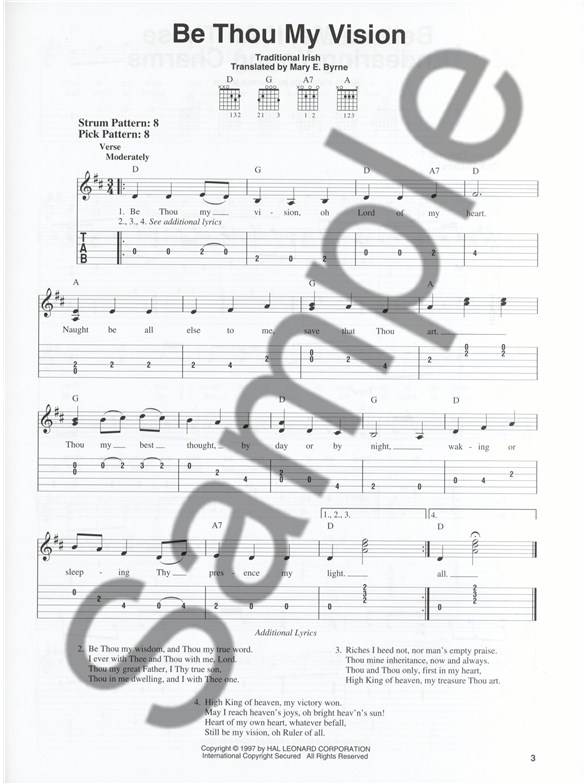 Be thou my vision guitar chords