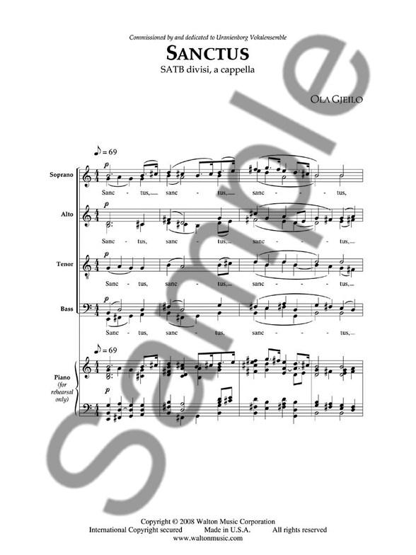 GJEILO SANCTUS PDF