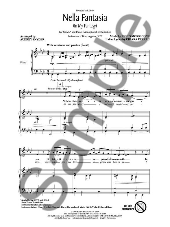 Ennio Morricone/Chiara Ferrau: Nella Fantasia (In My