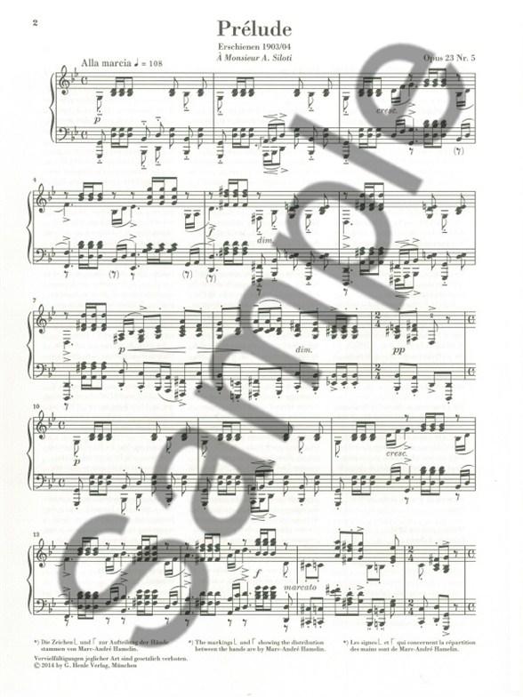 Sergei Rachmaninoff: Prélude In G Minor Op. 23 No. 5