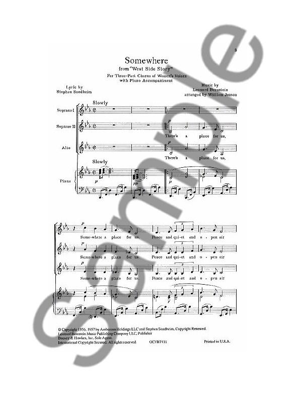 Leonard Bernstein: Somewhere (West Side Story) (SSA