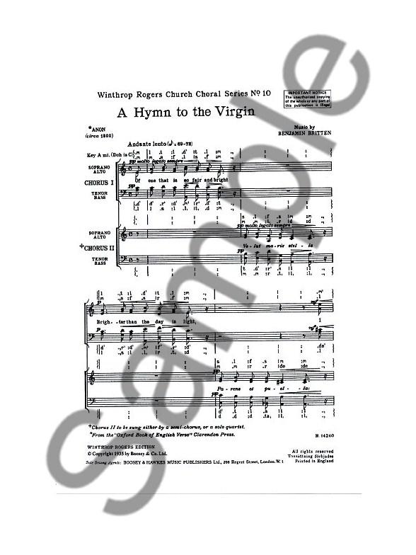 BENJAMIN BRITTEN HYMN TO THE VIRGIN PDF