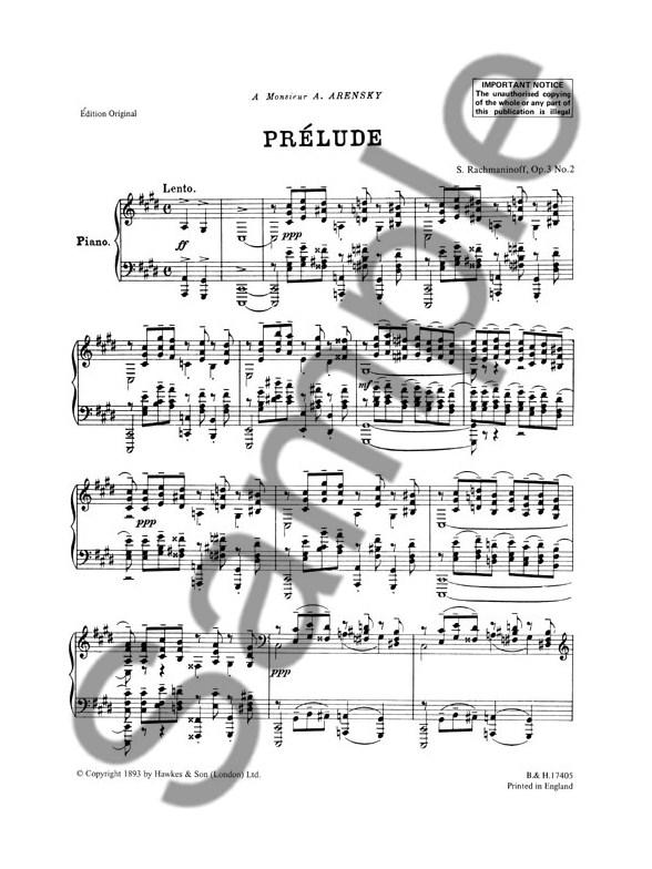 Sergei Rachmaninoff: Prelude In C Sharp Minor Op.3 No.2