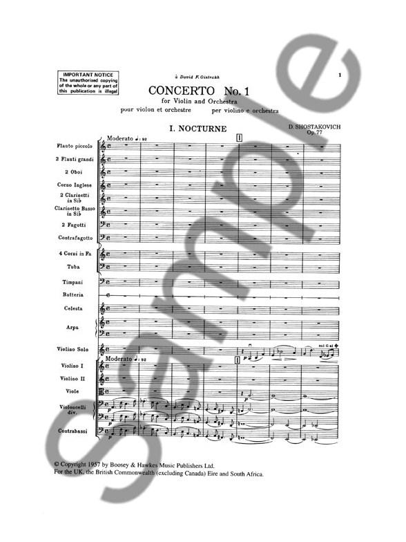 Dmitri Shostakovich: Violin Concerto No.1 In A Minor