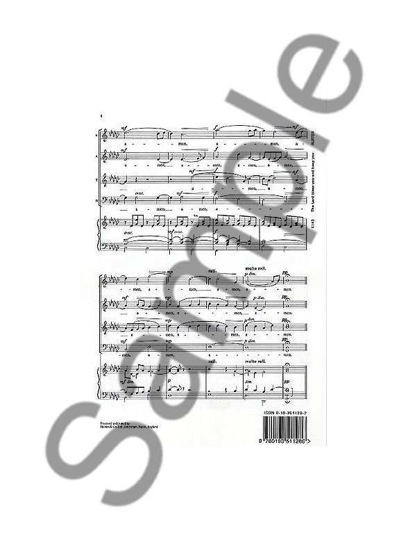 John Rutter: The Lord Bless You And Keep You (SATB
