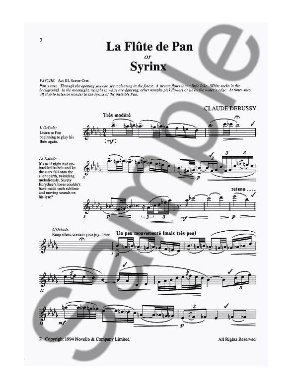 Claude Debussy: Syrinx (La Flute De Pan) Ed. Trevor Wye