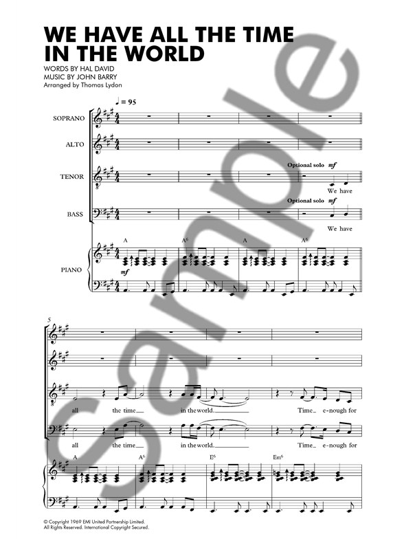 Louis Armstrong: We Have All The Time In The World (SATB