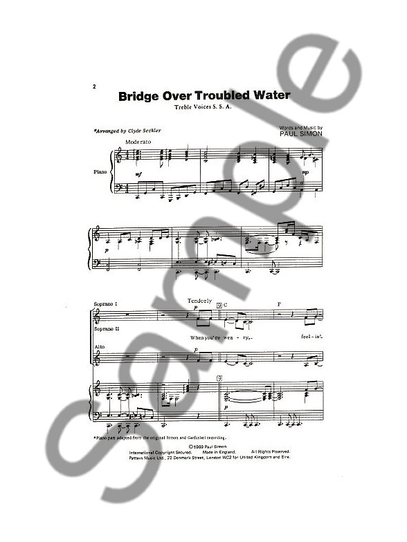 Simon And Garfunkel: Bridge Over Troubled Water (SSA