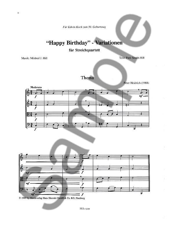 Peter Heinrich: Happy Birthday Variations