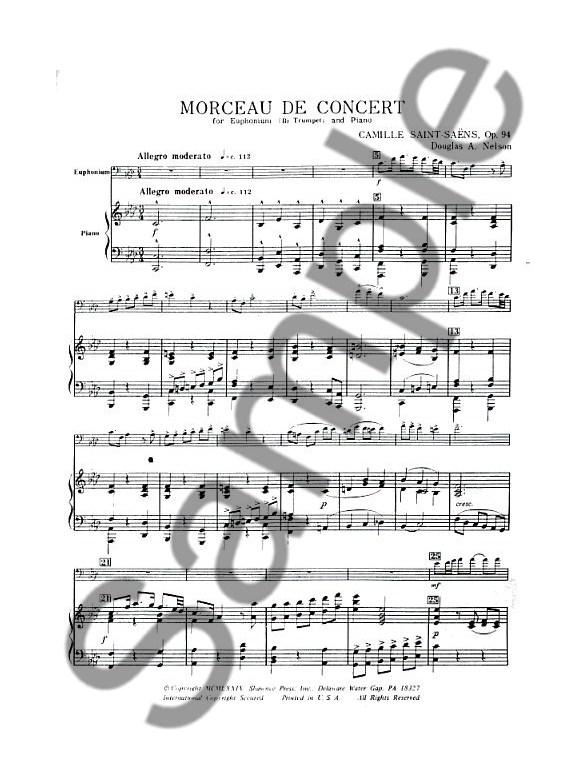 Camile Saint-Saens: Morceau De Concert (B.C. Euphonium