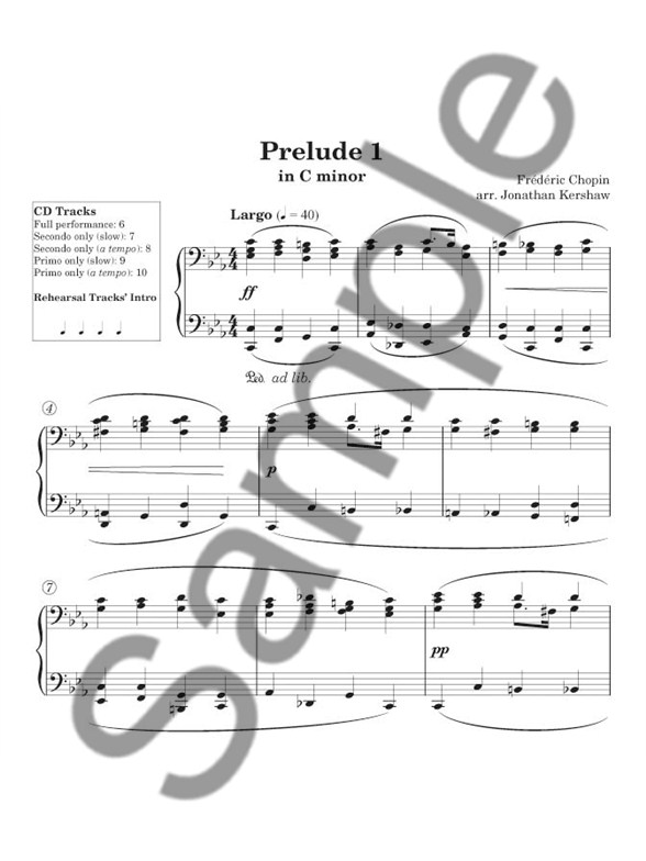 Sheet Music : Frédéric Chopin: Easy Chopin Piano Duets (1