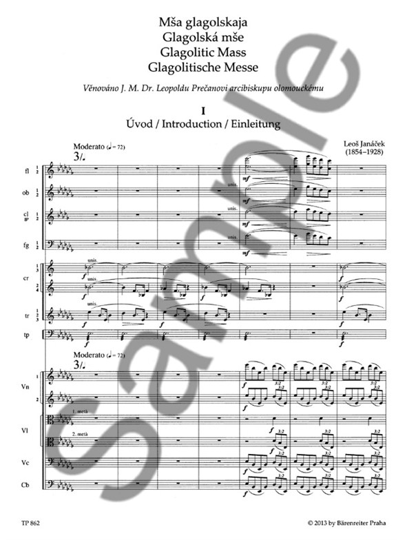 L. Janacek: Glagolitic Mass Final Version (Study Score