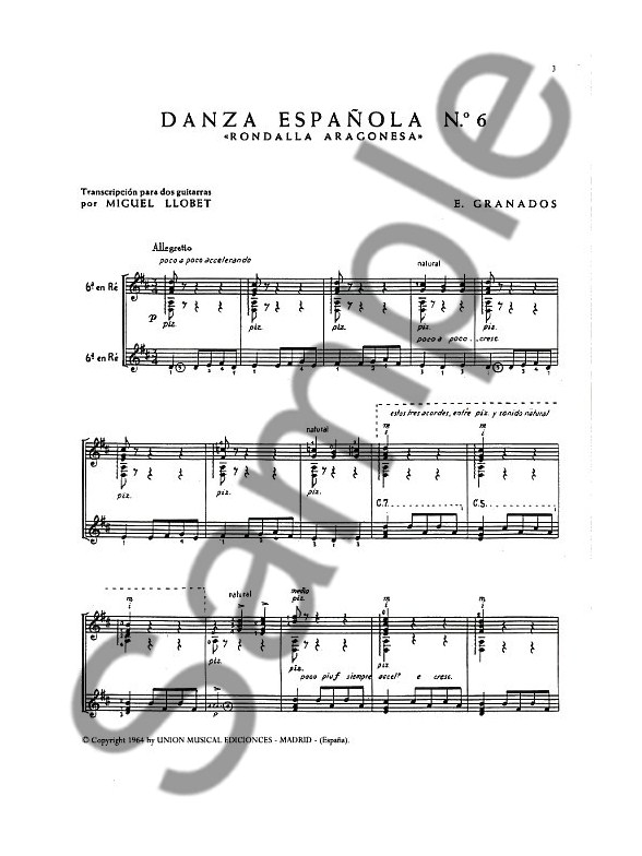 Granados Danza Espanola No.6 Rondalla Aragonesa (llobet) 2