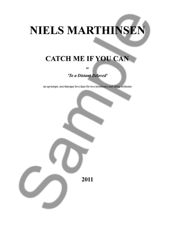 Niels Marthinsen: Catch Me If You Can (or 'To A Distant