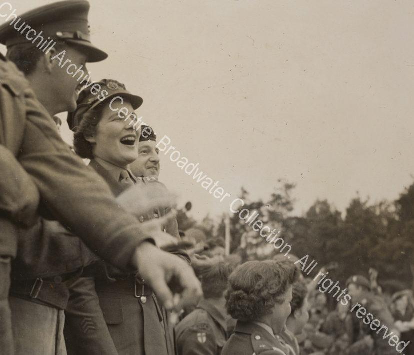 Photo shows Mary Churchill [later Mary Soames]