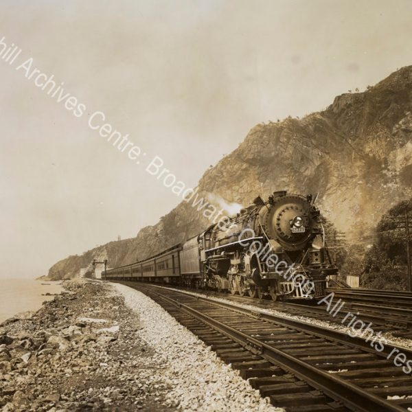 Photograph of a steam train New York Central