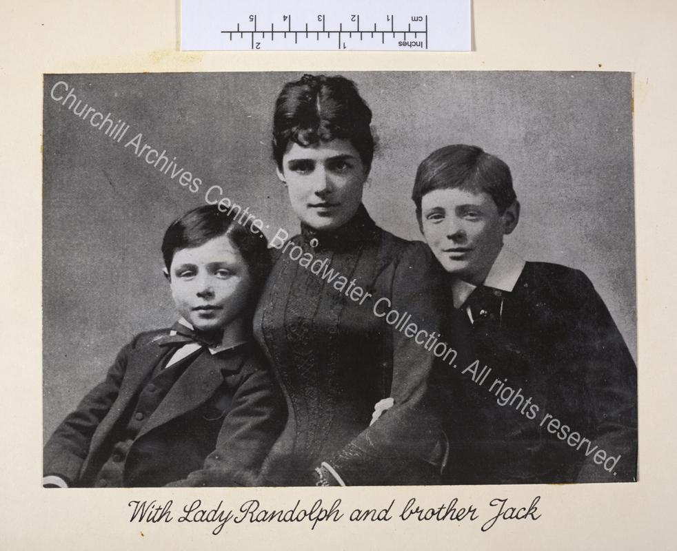 Portrait photograph showing John S Churchill and WSC