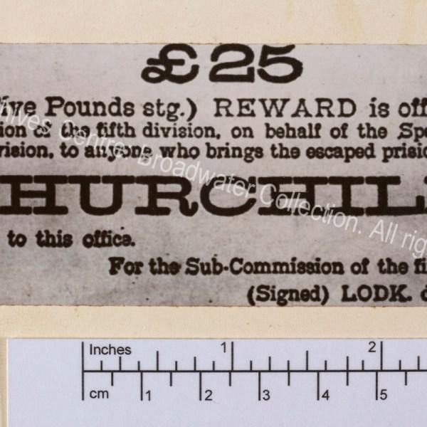 """Notice of reward for capturing """"the escaped prisoner of war"""