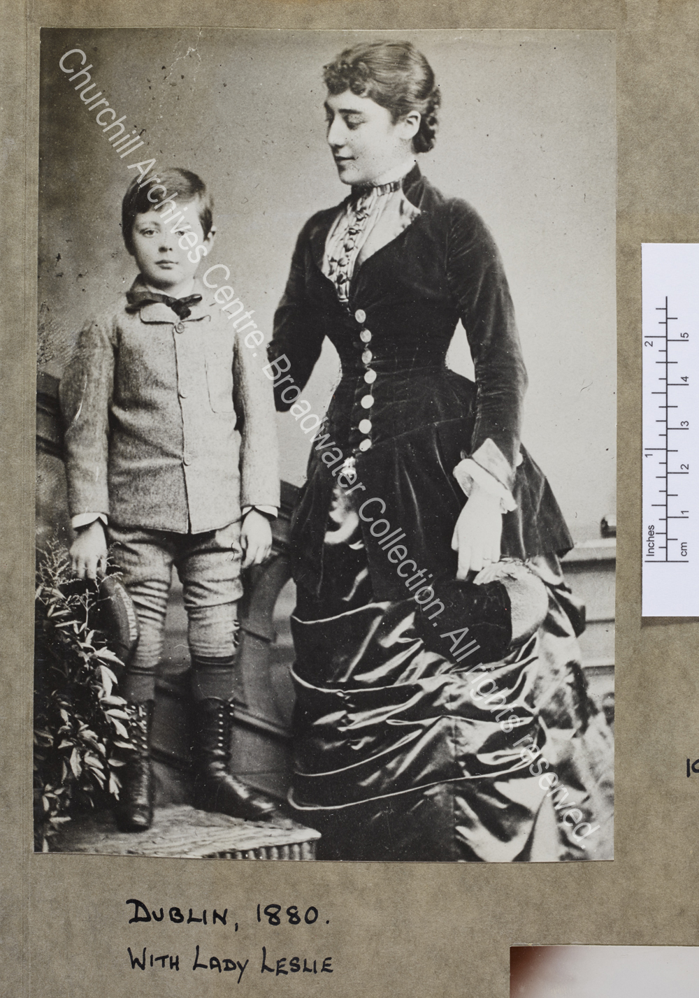 Photograph of WSC as a small boy