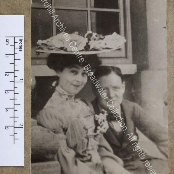 Half-length photograph of WSC with the Duchess [earlier Consuelo Vanderbilt