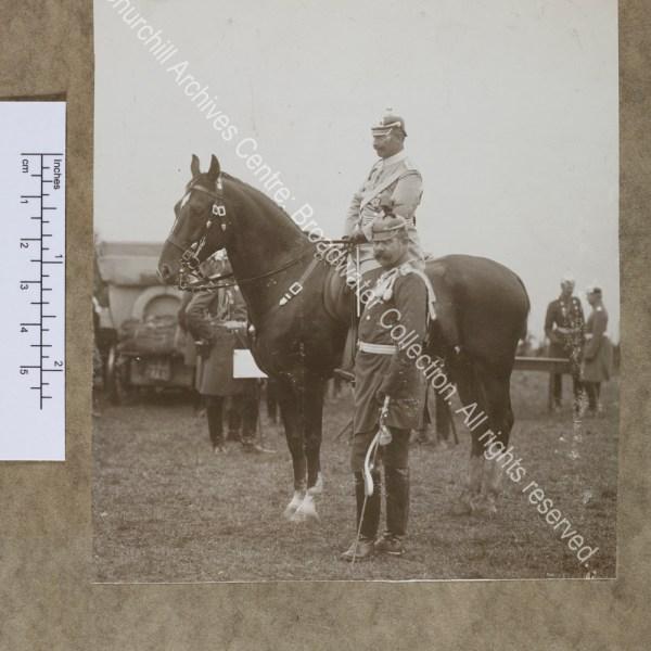 Photograph of Kaiser Wilhelm II and General Paul von Hindenburg
