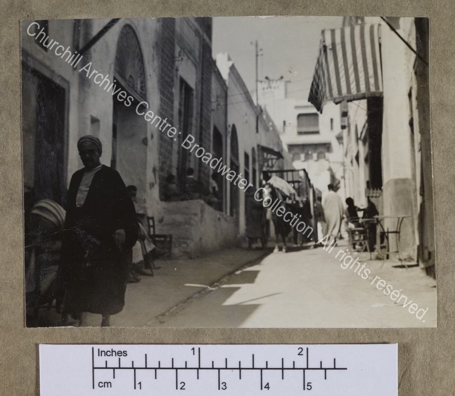 Photograph of a Middle Eastern street scene
