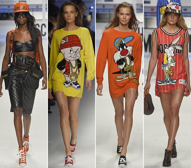ClioMakeUp-trucco-anni-90-novanta-stile-moda-Moschino-fall-winter2015-16