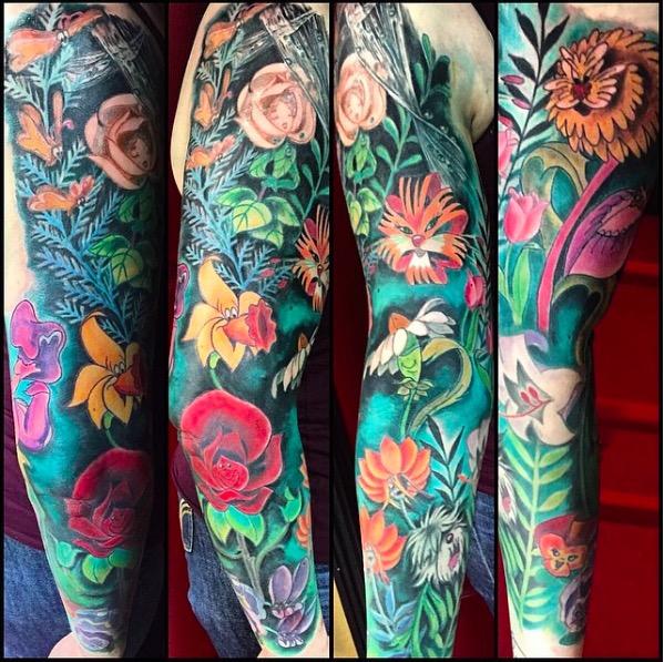 ClioMakeUp-tatuaggi-disney-piccoli-minimal-grandi-colorati-alice