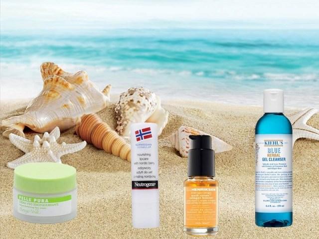 ClioMakeUp-prodotti-skin-care-essenziali-valigia-vacanze-team-collage