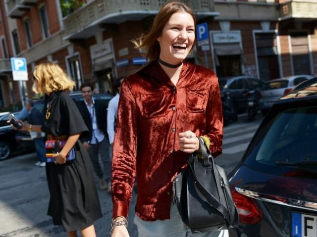 ClioMakeUp-street-style-fashion-week-completo-velvet2-milano