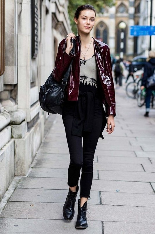 ClioMakeUp-street-style-fashion-week-londra-giacca-bordeaux2