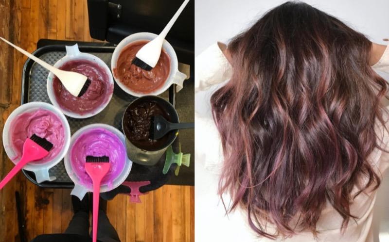 Risultati immagini per nuova tendenza capelli mauve cioccolato