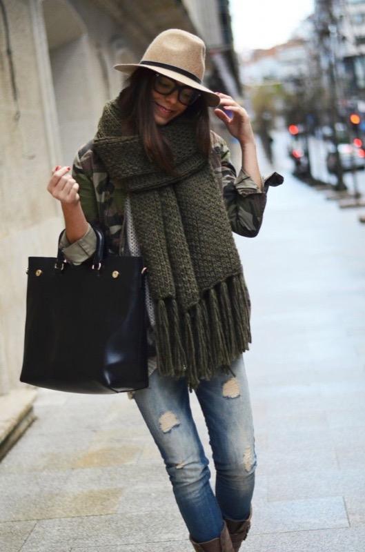 Calde Outfit E Abbinamenti Inverno Tendenza Di Sciarpe TdwU1q1