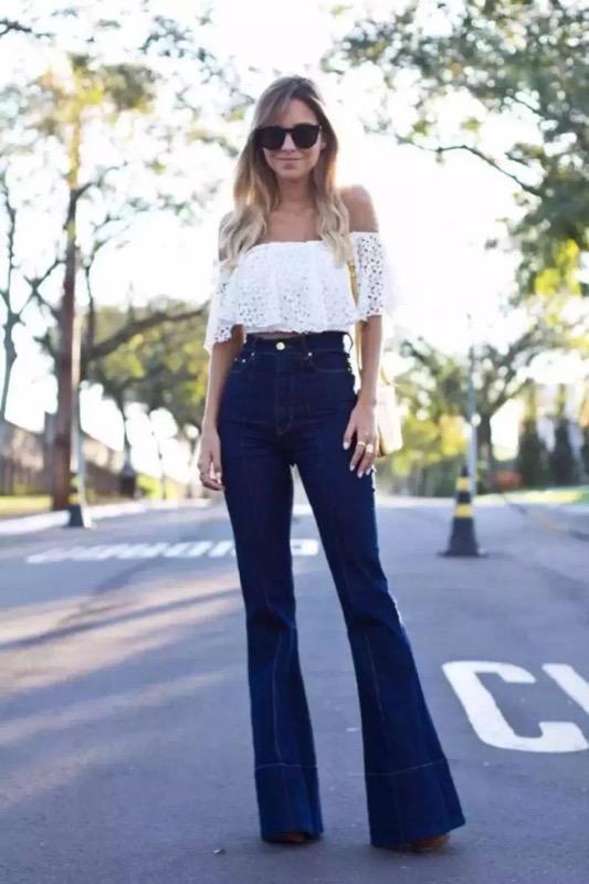 ClioMakeUp-pantaloni-zampa-jeans-flared-vita-alta