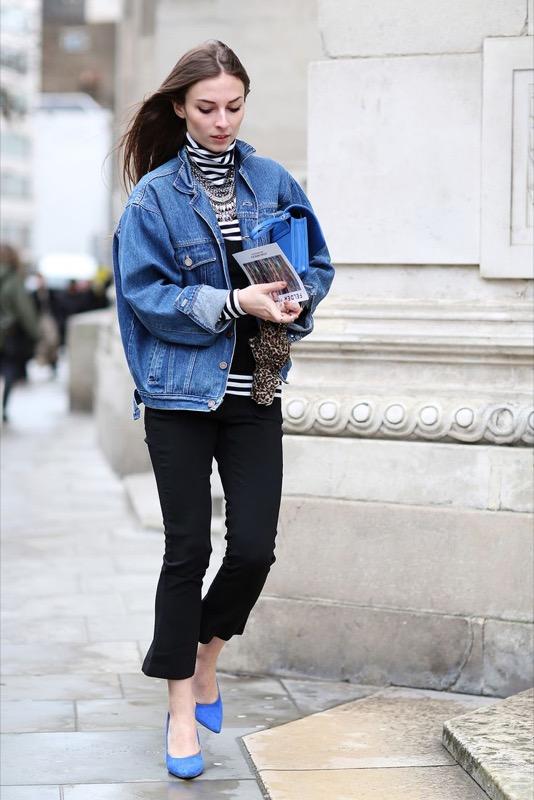 Giubbino jeans largo