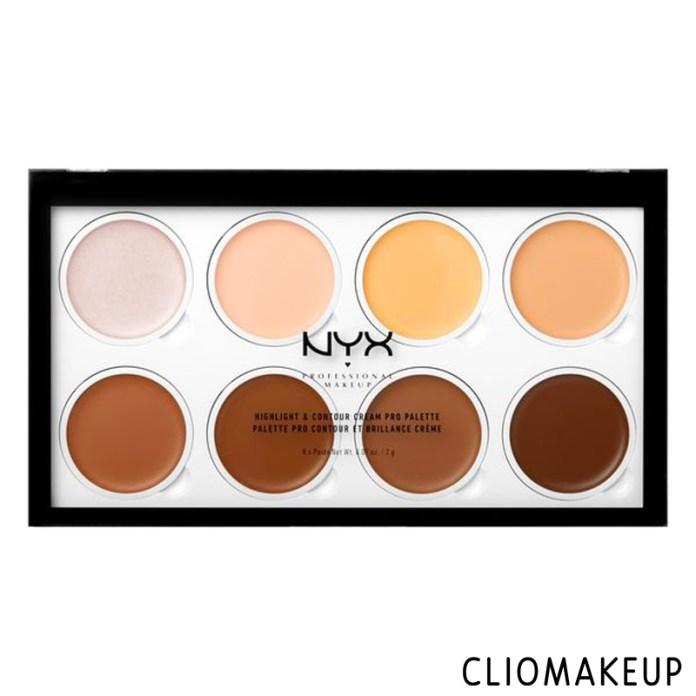 cliomakeup-recensione-highlight-contour-cream-pro-palette-nyx-1
