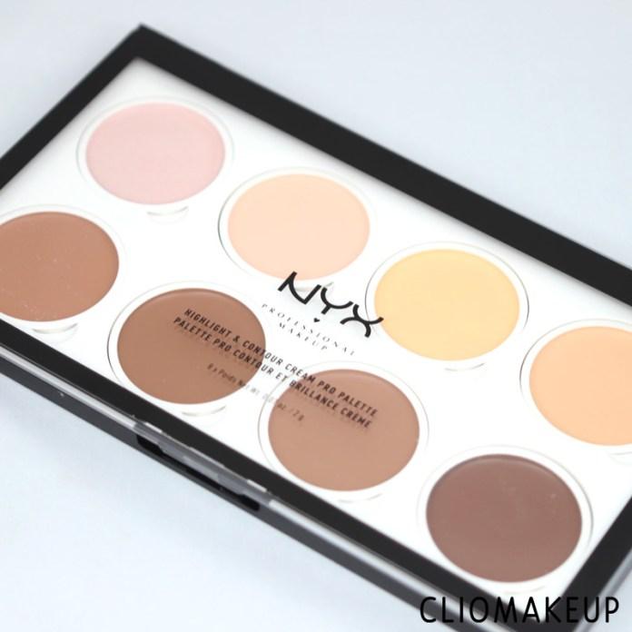 cliomakeup-recensione-highlight-contour-cream-pro-palette-nyx-2