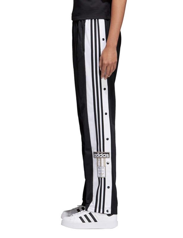 pantaloni bottoni laterali adidas