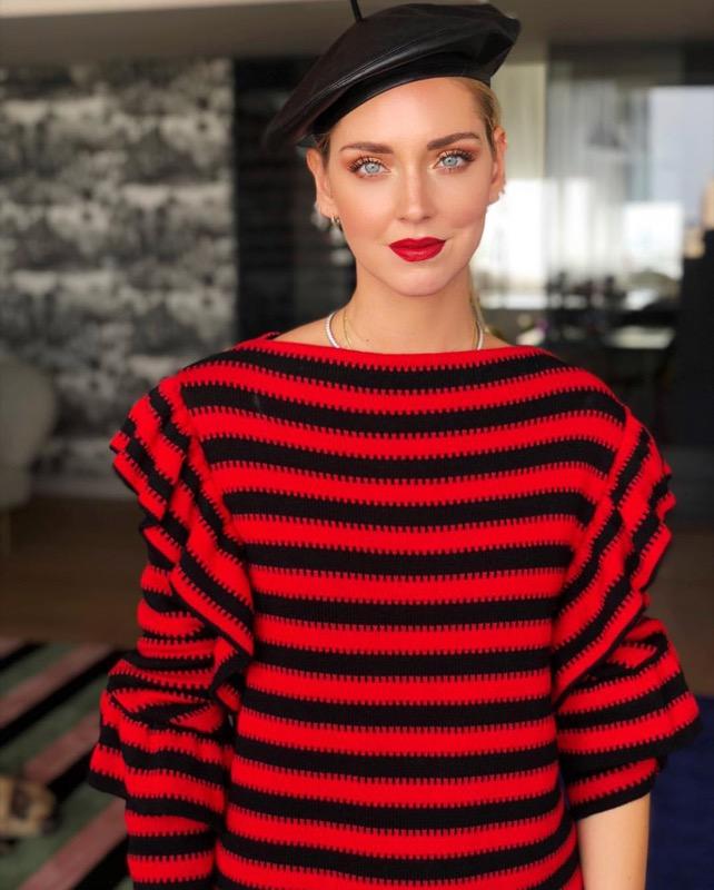 Chiara Ferragni, che nude look alla Fashion week di Parigi