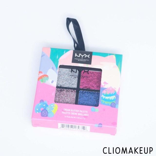 cliomakeup-recensione-palette-glitter-nyx-sprinkle-town-cream-glitter-palette-2