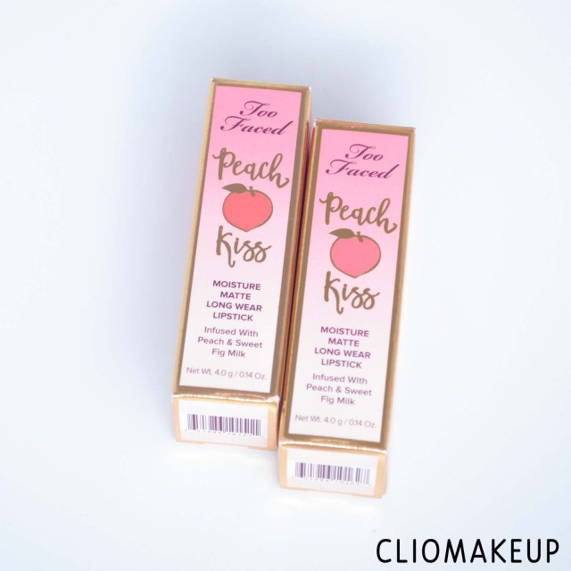 cliomakeup-recensione-rossetti-too-faced-peach-kiss-moisture-matte-long-wear-lipstick-2