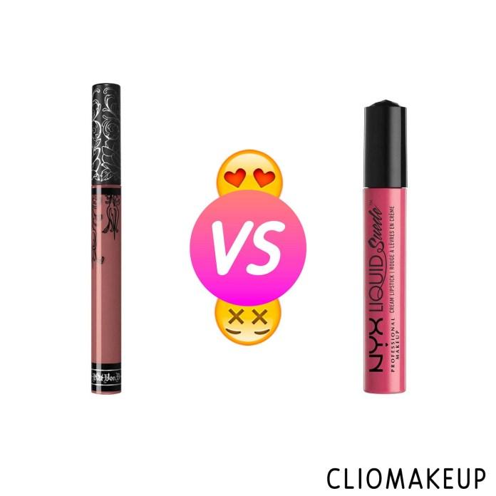 cliomakeup-recensione-dupe-kat-von-d—everlasting-liquid-lipstick—nyx-liquid-suede-cream-lipstick-1