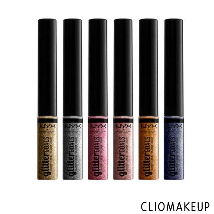cliomakeup-recensione-eyeliner-nyx-glitter-goals-liquid-liner-3