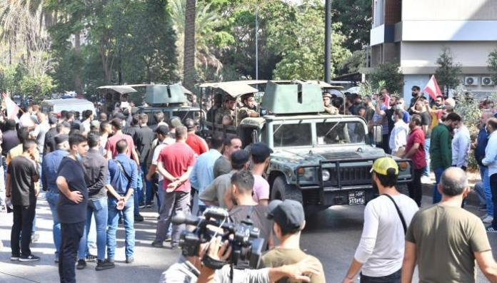 Assault on the correspondent of Al-Hadath channel
